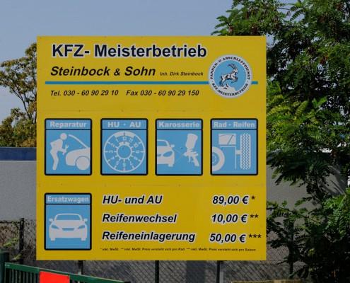 Angebote der KFZ Werkstatt Steinbock & Sohn