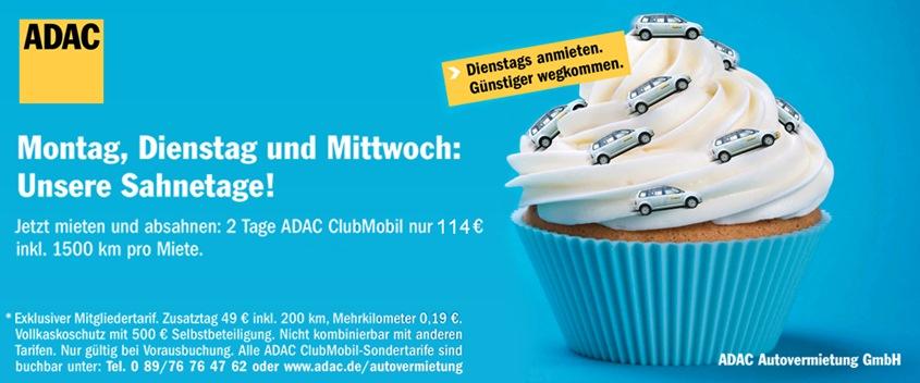 ADAC Sahnetage Angebot