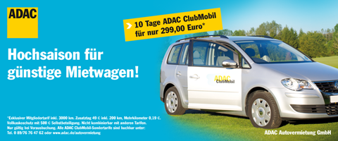 ADAC Clubmobil 10 Tages Angebot