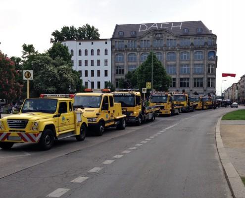 Einsatz vor Ort mit 7 Fahrzeugen aus dem Fuhrpark